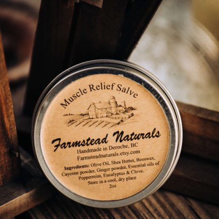 Muscle Relief Salve by Farmstead Naturals Handcrafted Natural Soaps and Salves Bath & Beauty Products