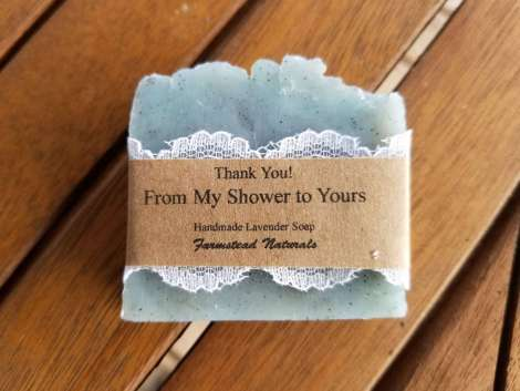 Blue Soap Favours By Farmstead Naturals