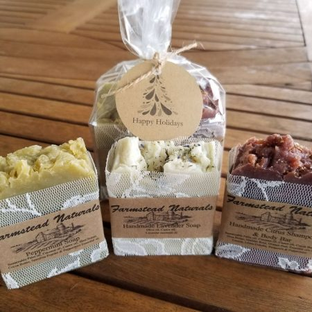 Handmade Soap Gift Pack By Farmstead Naturals Handcrafted Natural Soaps and Salves Bath & Beauty Products