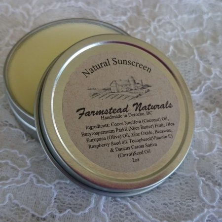 Natural Sunscreen By Farmstead Naturals Handcrafted Natural Soaps and Salves Bath & Beauty Products