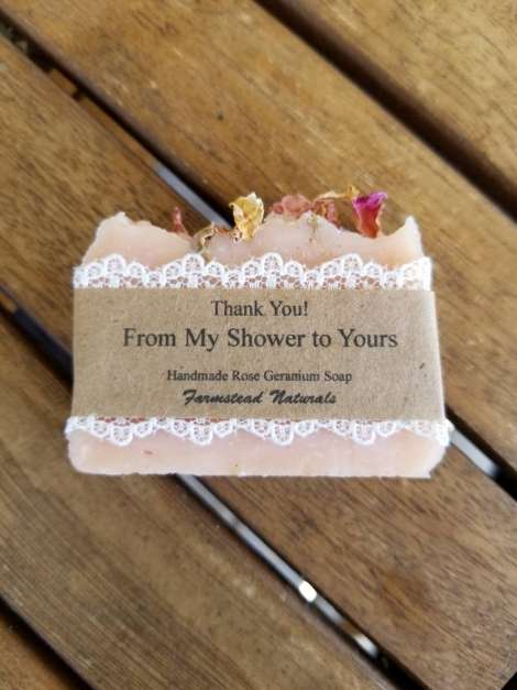 Bridal shower favors By Farmstead Naturals