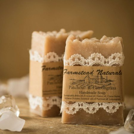 Patchouli & Lemongrass Handmade Soap By Sleep & Insomnia Essential Oil Glass Roller Bottle By Farmstead Naturals Handcrafted Natural Soaps and Salves Bath & Beauty Products