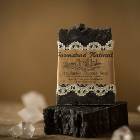 Detox Charcoal Soap By Farmstead Naturals Handcrafted Natural Soaps and Salves Bath & Beauty Products