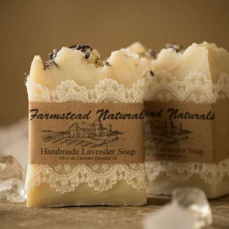 Handmade Lavender Soap By Farmstead Naturals