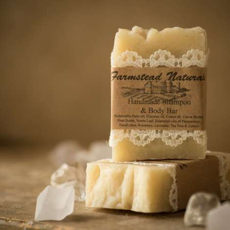 Handmade Shampoo Bar By Farmstead Naturals