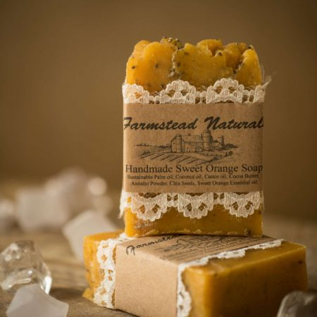 Sweet Orange Gardener's Soap By Farmstead Naturals Handcrafted Natural Soaps and Salves Bath & Beauty Products