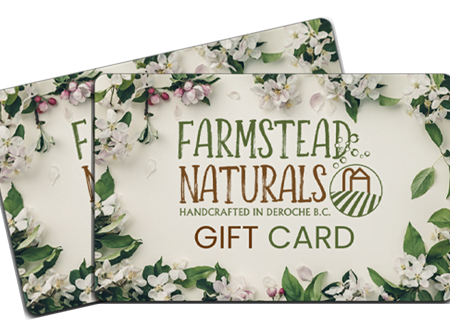 Gift Cards by Farmstead Naturals Handcrafted Natural Soaps and Salves Bath & Beauty Products