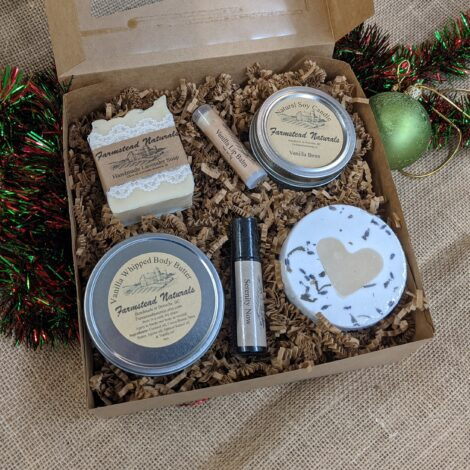 Deluxe Gift Box Auction by Farmstead Naturals Handcrafted Natural Soaps and Salves Bath & Beauty Products