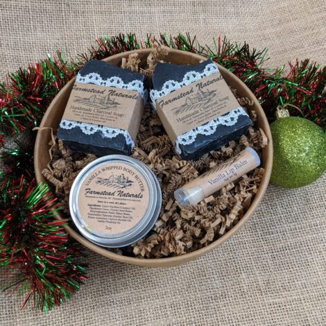 Lump of Coal Gift Box Auction by Farmstead Naturals Handcrafted Natural Soaps and Salves Bath & Beauty Products