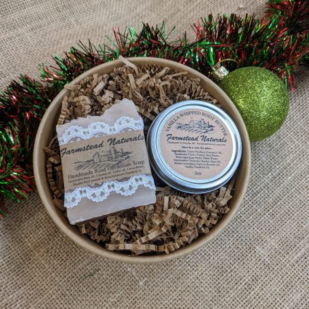 Mini Gift Basket Auction by Farmstead Naturals Handcrafted Natural Soaps and Salves Bath & Beauty Products